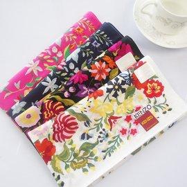 品牌 田園物語 女士手帕 80支純棉 優雅驚艷 環保手絹 印花手帕