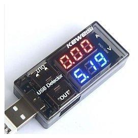 雙USB電流電壓檢測表測試儀 一分二轉接頭 電源性能測試 ^~264106^~