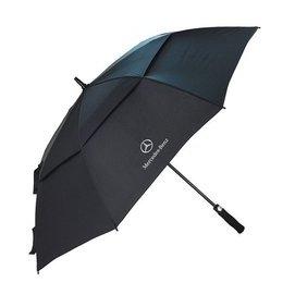 BENZ賓士 自動雨傘 雙層長柄男士商務黑色雨傘超大 超強防風雨兩用高爾夫傘 車用自動傘