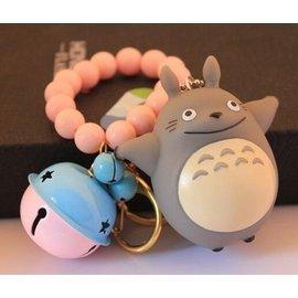 食尚 7cm可愛龍貓 鈴鐺珠珠手圈鑰匙扣 車鑰匙鏈 包包掛件配飾
