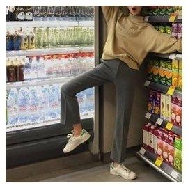 寬松顯瘦西裝褲女式長褲高腰氣質灰色闊腿九分褲 褲潮