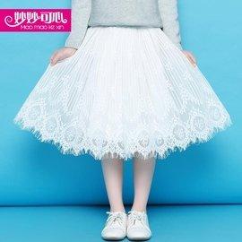 食尚 妙妙可心女童公主裙兒童半身裙春夏裝 裙子中大童紗裙