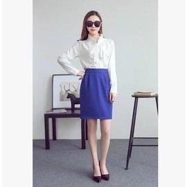 食尚  職業OL 百搭A  窄裙寶藍色半身裙有大碼加肥加大