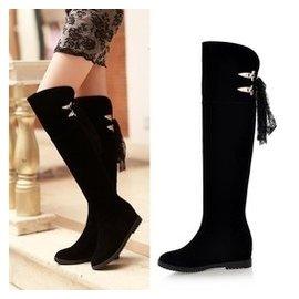 2014鼕季 女鞋過膝長靴子磨砂高筒靴內增高鞋鼕天大碼女靴