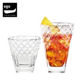 VIDIVI高清玻璃杯水杯 啤酒杯  方形奢華菱格