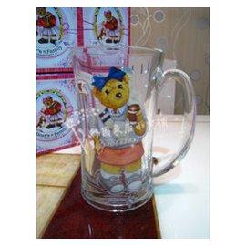 2個包郵韓國小熊玻璃杯啤酒杯Bear s Family泰迪熊扎啤杯 水杯
