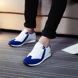 沃伊美2016春 男鞋子男士 鞋 潮鞋帆布鞋 潮流皮鞋高幫鞋板鞋透鞋 潮 1811款藍色