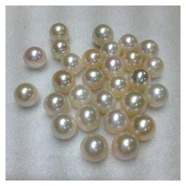 8~9天然淡水珍珠散珠珠手鏈項鏈顆粒珠正圓戒指首飾無瑕