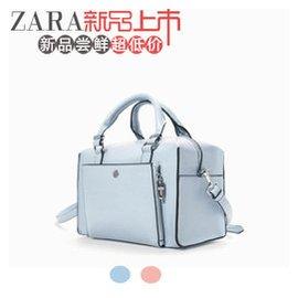 ZARA正品女包2015 水桶包馬卡龍色保齡球包女士單肩斜跨手提包