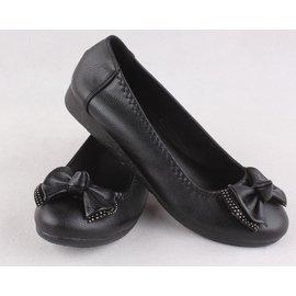 厚底工鞋鞋女黑色職業上班皮鞋坡跟平底單鞋低跟平跟淺口女鞋圓頭