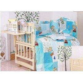 送床頭置物架席 涼枕實木嬰兒床無油漆寶寶搖籃床童床 可變書桌 多 BB寶寶遊戲床五件套被子