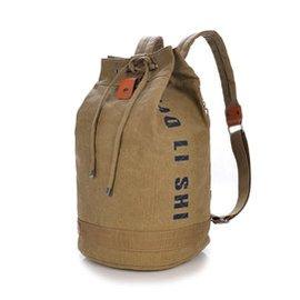 帆布 包 雙肩包圓桶包旅遊背包 大容量男女戶外 旅行包