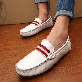 夏真皮豆豆鞋男士 鞋懶人鞋牛皮簡約皮鞋正品男鞋駕車鞋帆船鞋