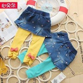 2014春秋 外貿 女童打底褲裙嬰兒純棉褲子可開襠女寶寶長褲