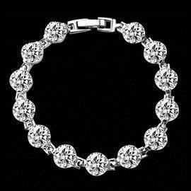 瑗昕 奢華閨蜜姐妹 SONA鑽石1克拉手鏈送女友 飾品
