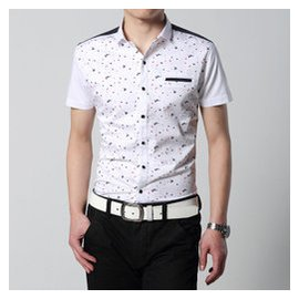 雅戈爾青年男士短袖襯衫男裝純棉 寸衫型男潮流襯衫男春衫大碼