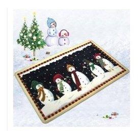 兒童地毯節日毯聖誕系列地墊 歐標 加厚進門入戶地毯 聖誕雪人 F35