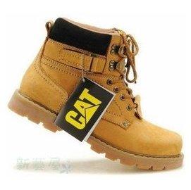 美國卡特CAT男鞋休閒潮流高幫鞋女鞋真皮馬丁靴短靴工裝靴戶外登山鞋情侶款金屬馬丁靴 中靴高