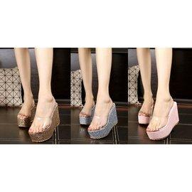 ^~Korinne s Shop ^~ 滿400^( 純取貨^) 灰姑娘玻璃鞋透明亮片魚嘴