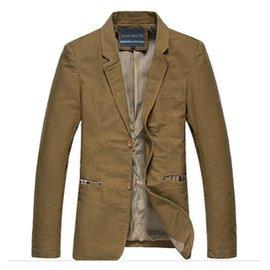 春秋款 修身純棉小西服男 青年單商務大碼 西裝純色男外套