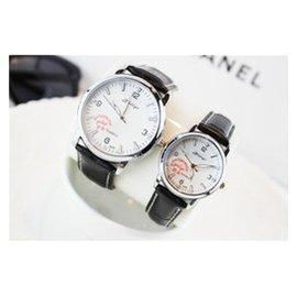 正品包郵水鑽學生情侶手表一對表 水鑽表情侶表皮帶男女表