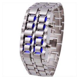 正品俄羅斯軍用熔岩表LED 防水手表男表手鏈表對表電子表