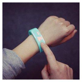 LED觸控防水手表學生跑步 電子潮流夜光果凍男女糖果手環