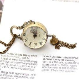 老风情项链表挂表 中性表 复古表古铜怀表