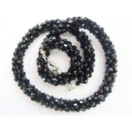 包郵 施華洛 純 串珠鑲鑽水晶項鏈 女短鏈鎖骨鏈
