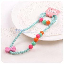 亞克力女童糖果色珠子項鏈手鏈套裝精致可愛