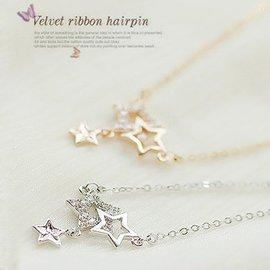 韓國配飾裝飾星星項鏈鎖骨鏈女 掛件飾品水晶吊墜 短款掛飾