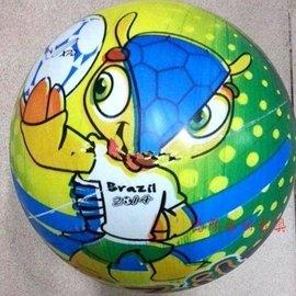2014世界杯足球裝飾充氣足球 吉祥物三色犰狳Fuleco足球