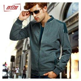 男士外套春秋裝 大碼夾克薄男青年立領夾克衫外衣男加肥上衣潮