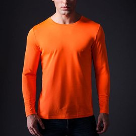 秒殺男士圓領長袖T恤跑步速干 上衣COOLMAX防曬透氣排汗打底衫