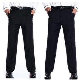 包郵男褲薄款直筒西褲男裝工作褲免燙免燙黑色藏青正裝長褲加大碼