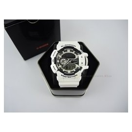 RT.CASIO G~SHOCK GA~400~7A 白黑 多層次錶盤 指針電子雙