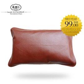 班德爾頭層水牛皮枕套 涼席枕席單人真皮枕頭套床上用品