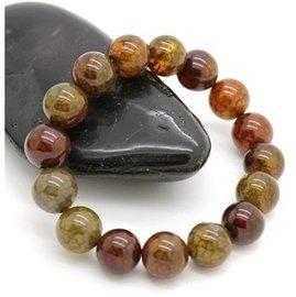 天然瑪瑙手鏈正品龍紋瑪瑙手鏈天然水晶手鏈男女款 龍鱗石 手珠