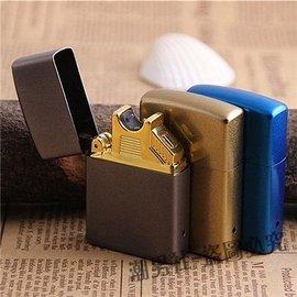 金屬電弧打火機USB充電 男士電子點煙器超薄防風刻字簽名