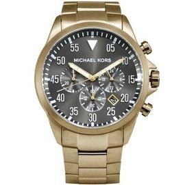 Michael Kors 簡約 躍動三眼計時灰面腕錶~45mm MK8361