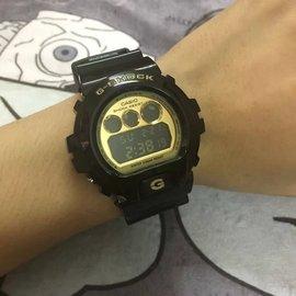 Casio 手錶 G~SHOCK DW~6900 黑金  手錶 情侶對錶