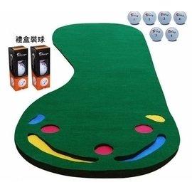 升級版 高爾夫推桿練習器 練習毯 室內迷你高爾夫練習器套裝