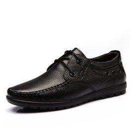 意利船長商務英倫正裝男士皮鞋真皮鞋子男潮流繫帶男鞋商務尖頭男鞋~6081 ~6081黑色
