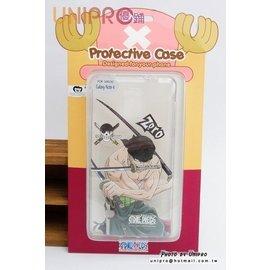 ~UNIPRO~三星 Note4 航海王 海賊王 One Piece 索隆 手機殼 透明