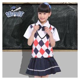 棒球男孩幼兒園園服夏裝 小學生班服兒童校服夏男女童園服短袖全棉班服 女生款 130碼 身高