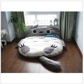 雙人睡袋龍貓床墊 睡墊 懶人沙發榻榻米床墊雙人睡床龍貓床墊懶人床動漫床墊保暖