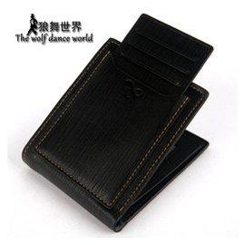 男士錢包真皮正品短款證件包多 卡位皮夾潮男式駕駛證錢包