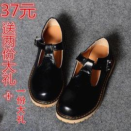 日繫復古學生皮鞋 森女公主圓頭單鞋 學院風女鞋英倫鞋平底娃娃鞋
