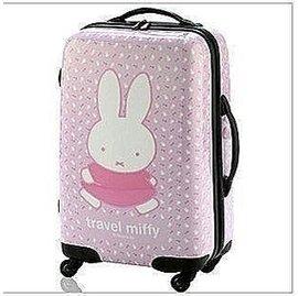 超可愛韓國米菲兔20寸ABS PC拉桿箱可愛女登機箱卡通旅行箱子卡通米菲兔拉桿箱女生