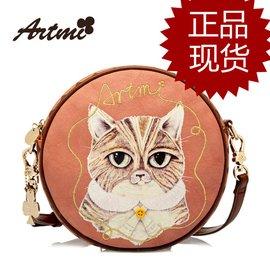 香港artmi阿特密女包夏天單肩斜 小包包 動物圖案印花圓形包斜跨